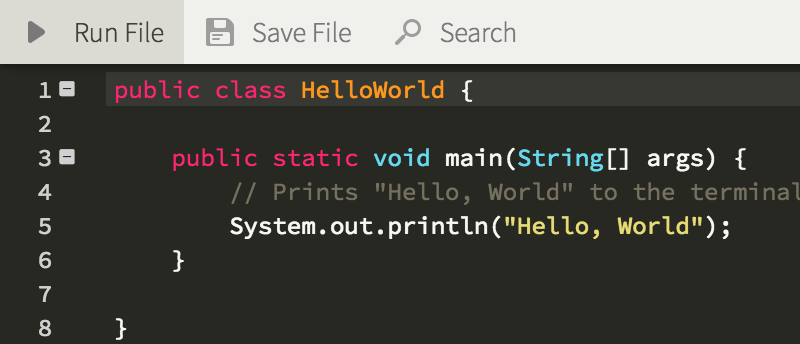 Run hello world in java